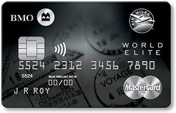 Bmo Air Miles World Elite Mastercard 1000 Weam Arup Miles Credit Card Credit Card Design Mastercard