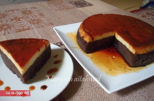 كيكة الكريم الكراميل سهلة ولذيذة بالصور مجلة لالة مولاتي نت Majalat Lalamoulati Net Food Desserts Breakfast