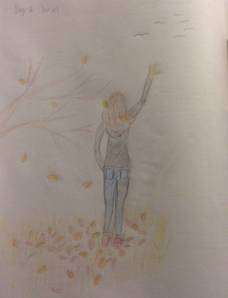 Novembre 2015. Défi de dessin de 30 jours. Jour 1. Dessinez-vous. - #challenge #drawing #november #yourself - #new - - -