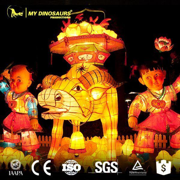 cd 038 chinese new year celebration decoration led silk lantern - Chinese New Year Customs