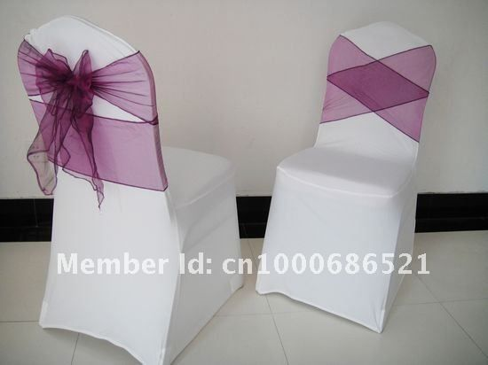 White Color Cheap Strech Lycra Spandex Chair Cover With