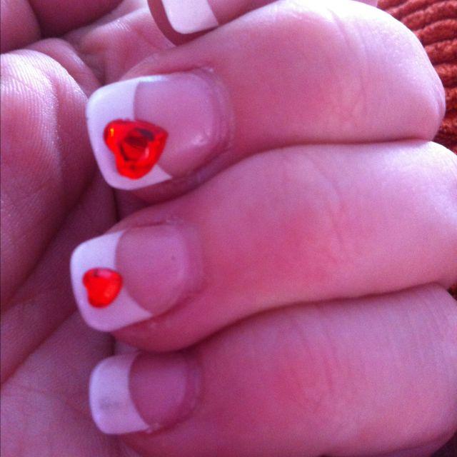 Cheap nail art rhinestone stickers clear nail polish as adhesive they lasted all