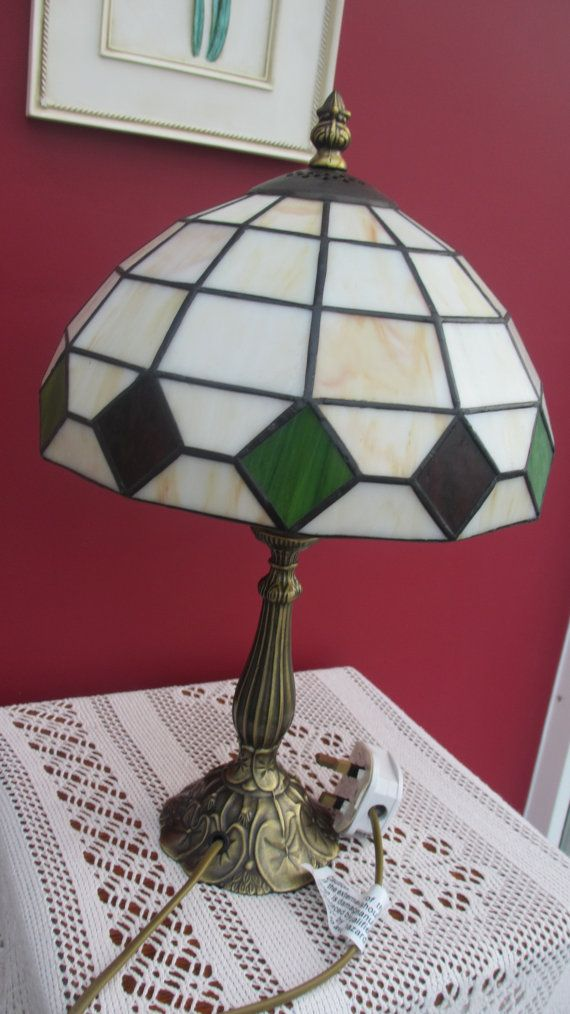 Vintage Tiffany Lamp Stained Glass on Etsy, £45.00