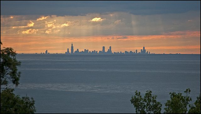 A view of Chicago From the Treetops a Indiana Dunes | Flickr - Photo  Sharing! | Indiana dunes national lakeshore, Skyline silhouette, Indiana  dunes