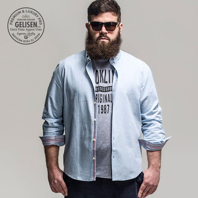Gelisen Brand Men's Shirts Business Code Of Linen / Cotton Blended ...