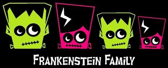 Frankenstein Family Car Decal Sticker Custom by StickersByDesign