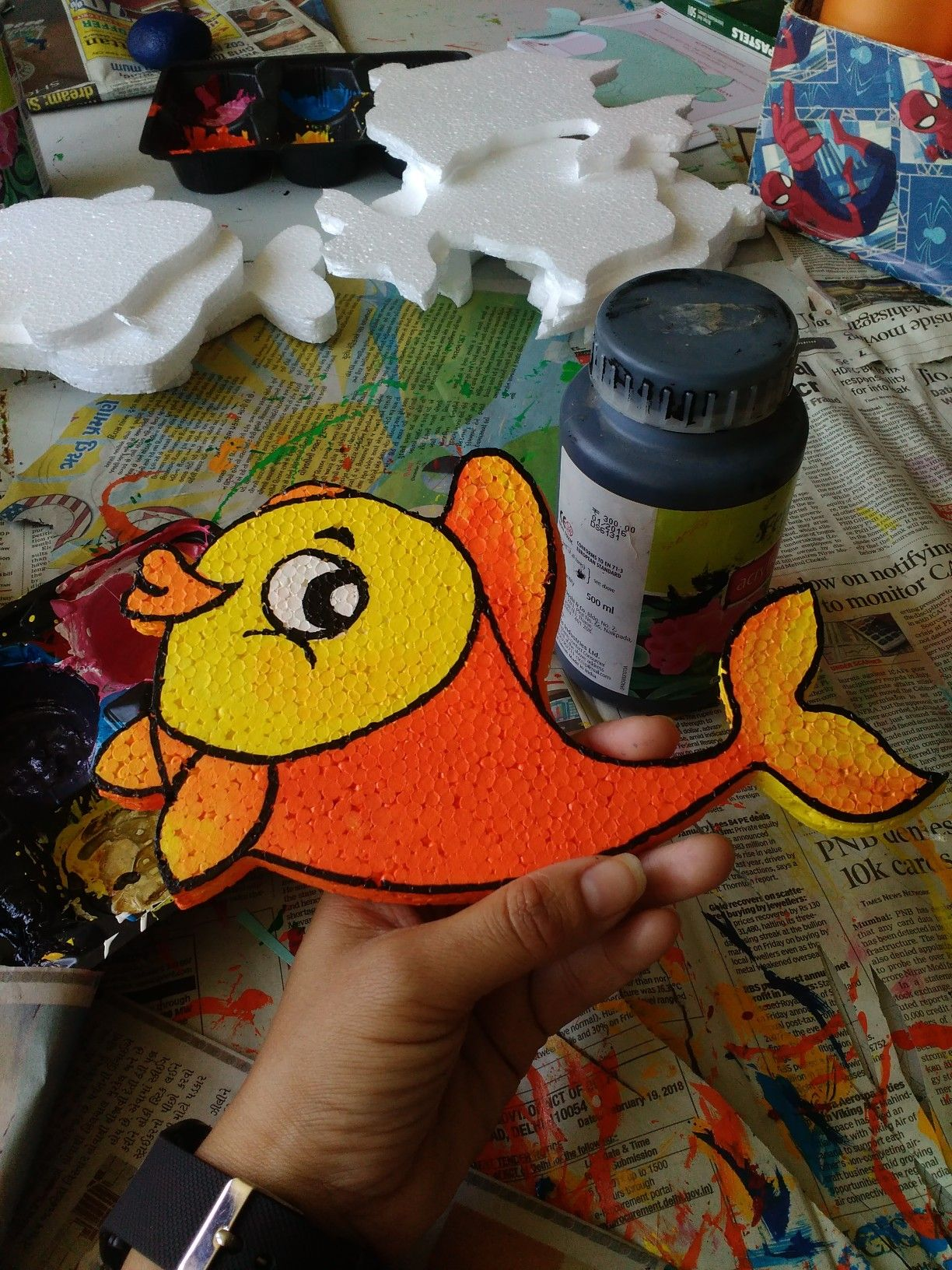 This Is How We Ready Our Thermocol Art Piece Cute Fish With
