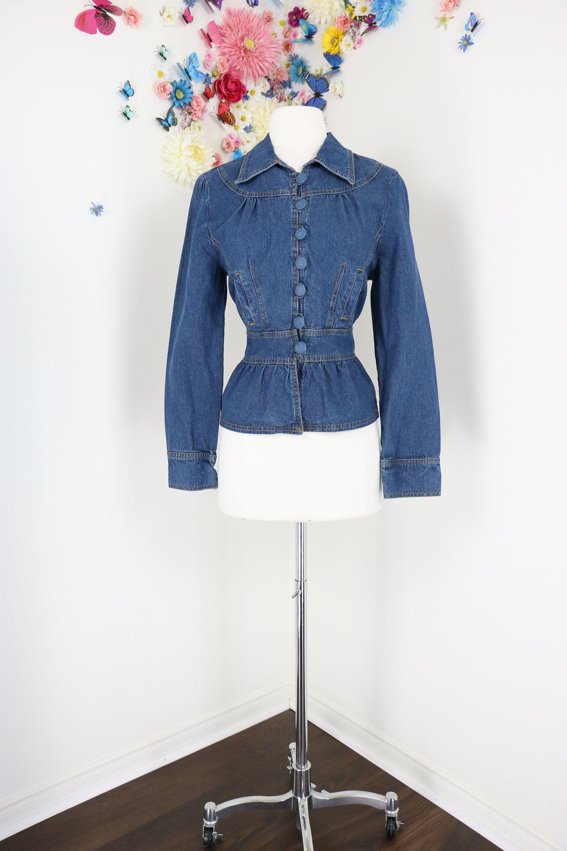 Vintage Denim Peplum Jacket Victorian Steampunk Fitted Etsy Vintage Denim Peplum Jacket Vintage Jean Jacket [ 3000 x 2000 Pixel ]