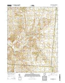 Mechanicsburg Ohio Map.Mechanicsburg Oh Topo Map 1 24000 Scale 7 5 X 7 5 Minute