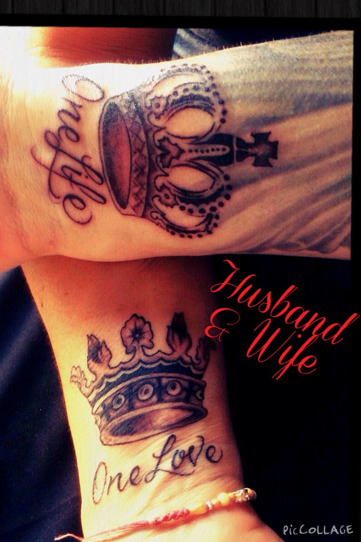 Husband And Wife Tattoo One Life One Love Mark And Jacque Ink