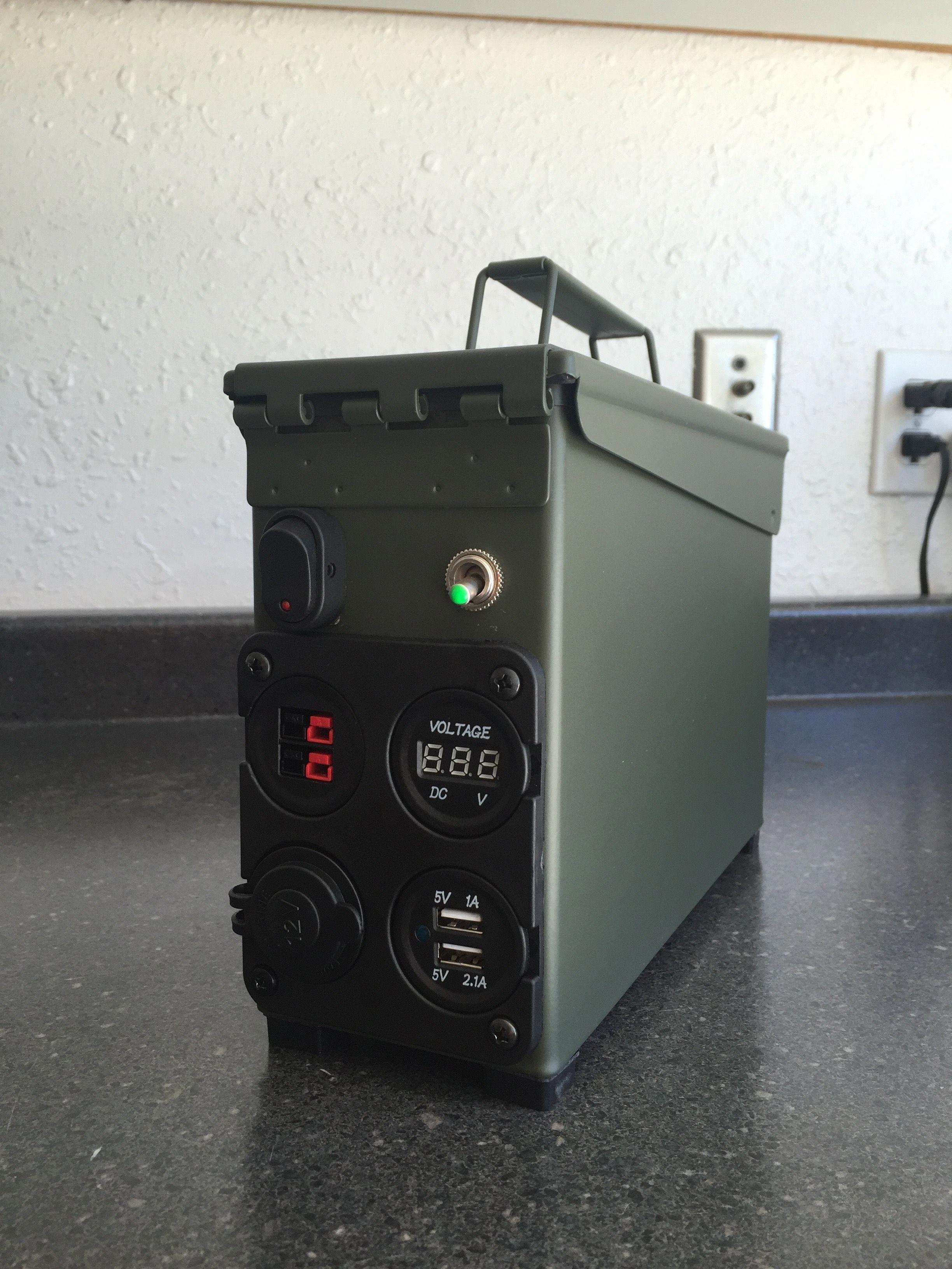 SHTF Battery Box 17Ah By N6VOA   Tech   Ham radio, Ammo cans