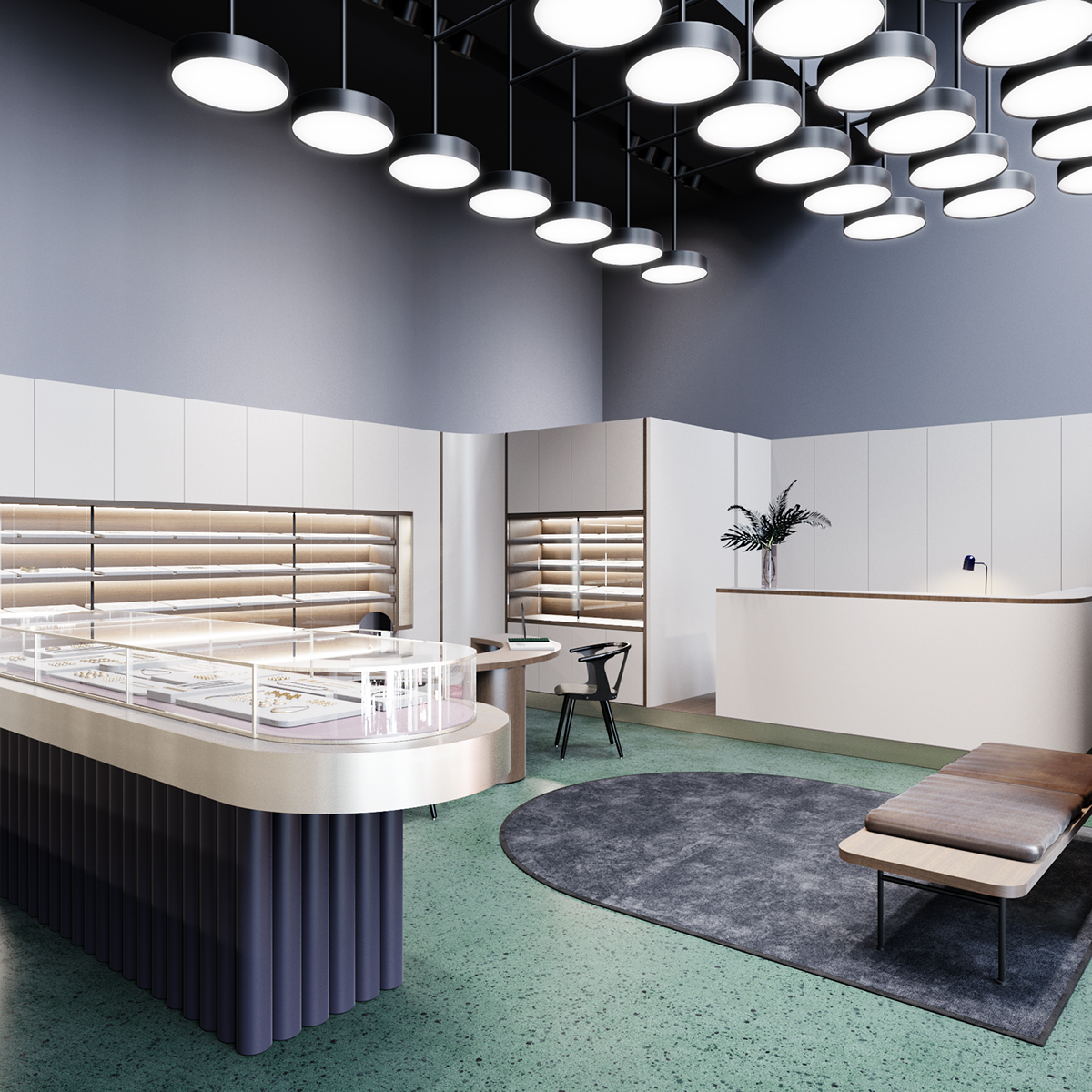 Jewelry Store On Behance   Look At That Alternative To Overhead Lighting |  City Lighting Products · Retail SpaceCommercial InteriorsJewelry ...