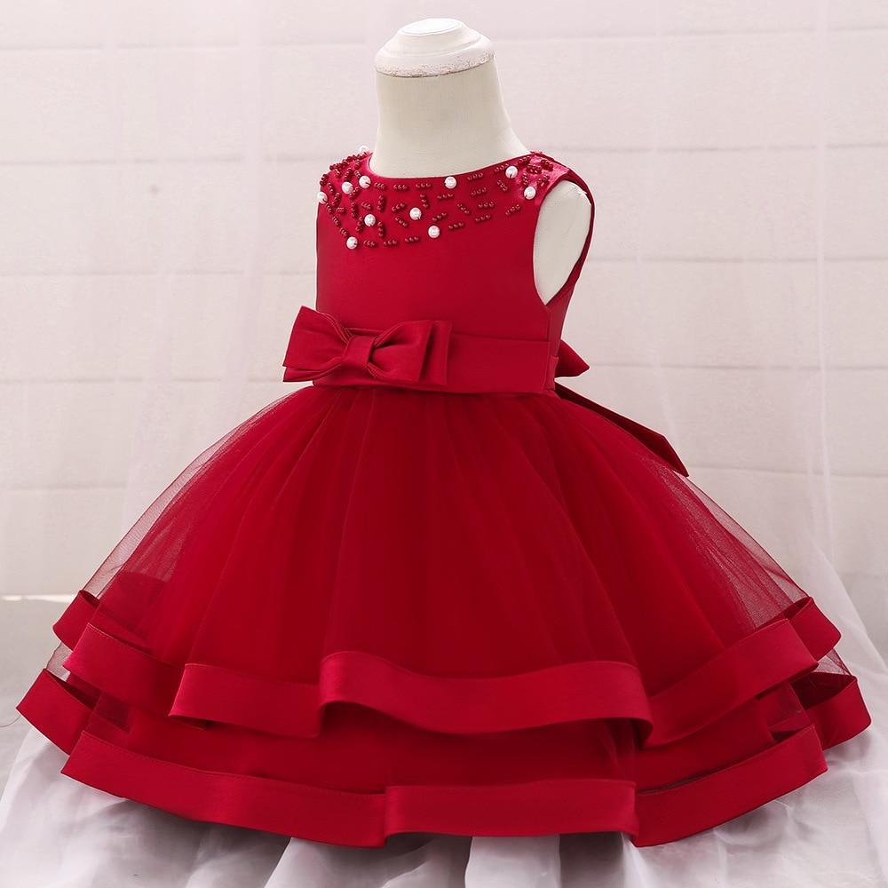 Vintage Baby Girl Dress Summer Bead Dresses for Newborn 6-6 Year