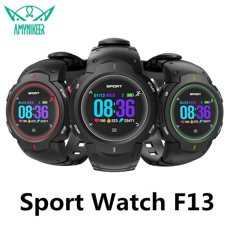AMYNIKEER Smart Watch F13 Waterproof IP68 Pedometer Heart