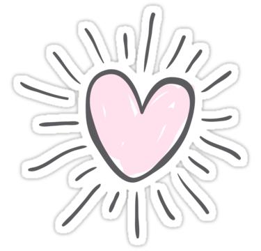 Heart Sun Sticker Sticker By Vanessavolk In 2021 Aesthetic Stickers Tumblr Stickers Print Stickers