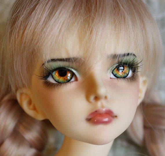 BJD eyes available in 14/16/18/20/22/24mm Orange Blossom made to order