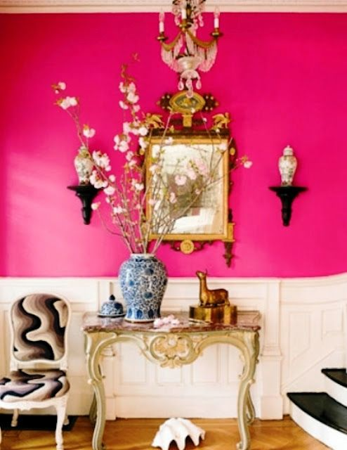 The wall color is beautiful..makes me smile | Pretty in pink ...