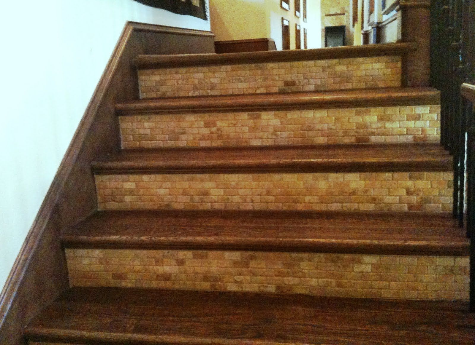 North Dallas Real Estate Spruce Up Your Stairs Tile Stairs   Wood And Tile Stairs   Rocell Living Room   Tile Floor   Basement   Quarter Round Stair Hardwood   White
