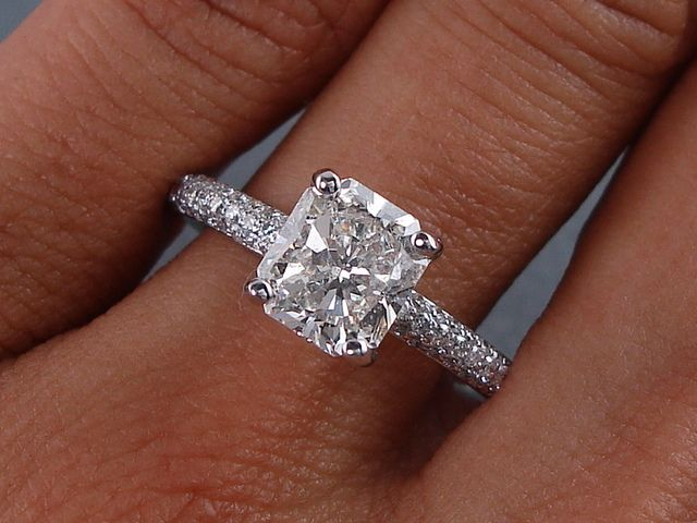 product engagement ring gabriel cut diamond lindsey white halo rings square gold princess