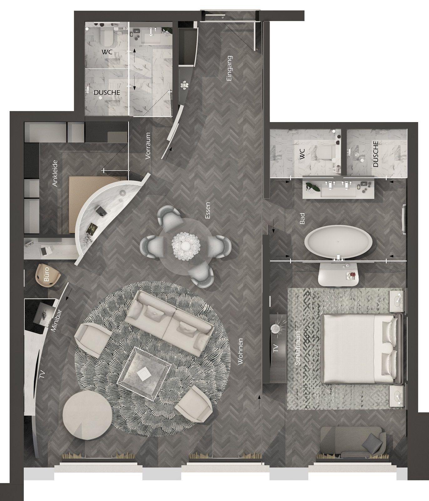 Hotel Palace Luzern Wettbewerb Innenarchitektur   LIGNO in Raum AG ...