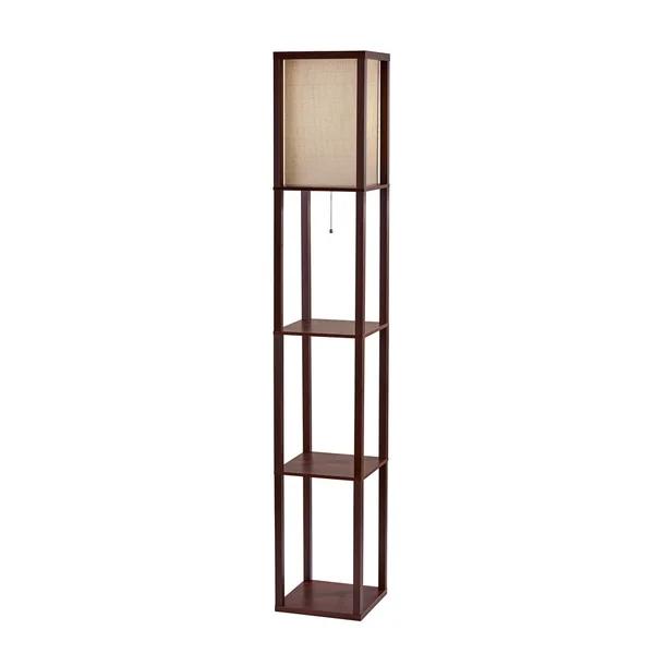 Carbon Loft Wiig Wood Shelf Lamp With Images Shelf Lamp Lamp Floor Lamp