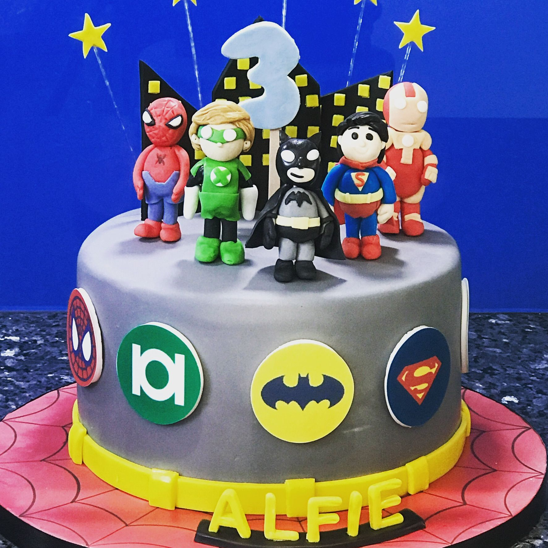 Justice League Birthday Cake Justice League Cake Birthday Cake