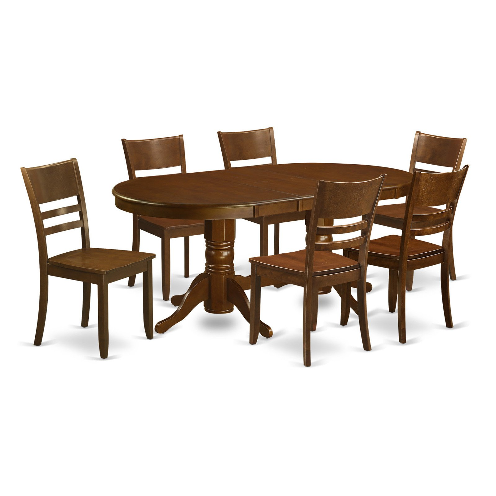 East West Furniture Vancouver 7 Piece Mission Dining Table Set