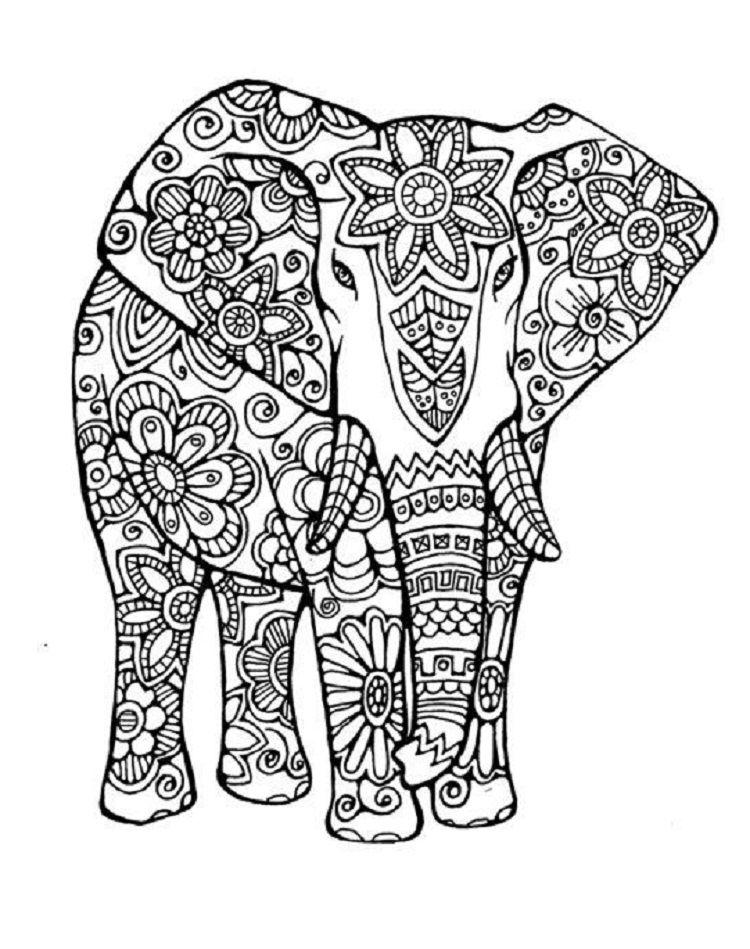 Elephant Mandala Coloring Pages Elephant Coloring Page Animal Coloring Pages Mandala Coloring Pages