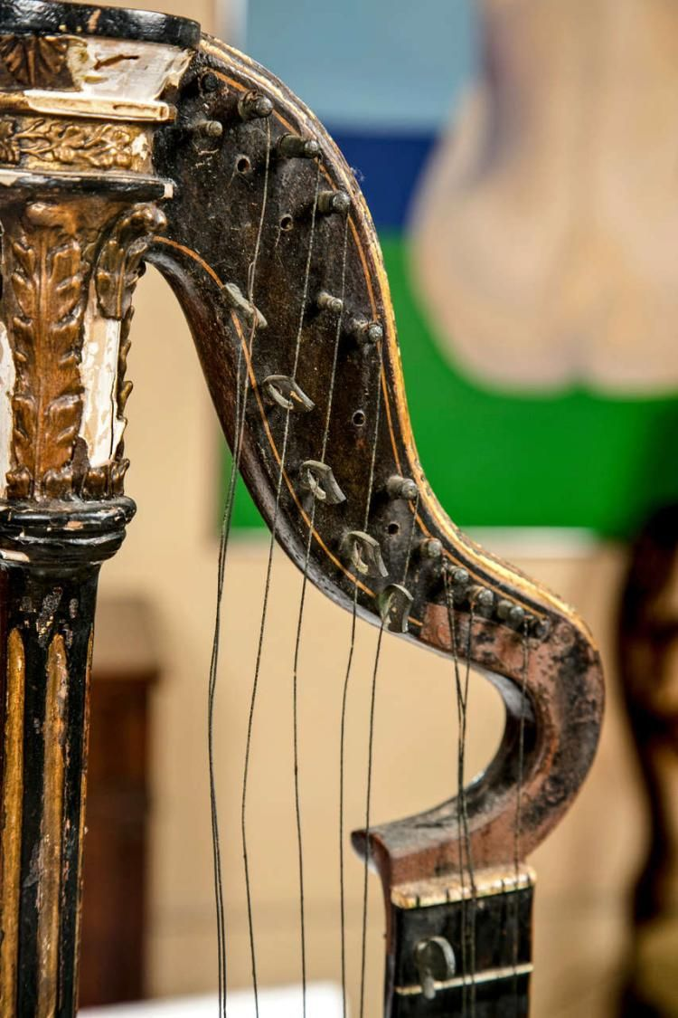 An 19th Century Harp Lute Edward Light