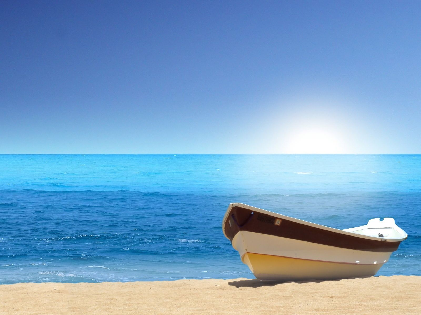 ... Of Beach: A Small Boat On The