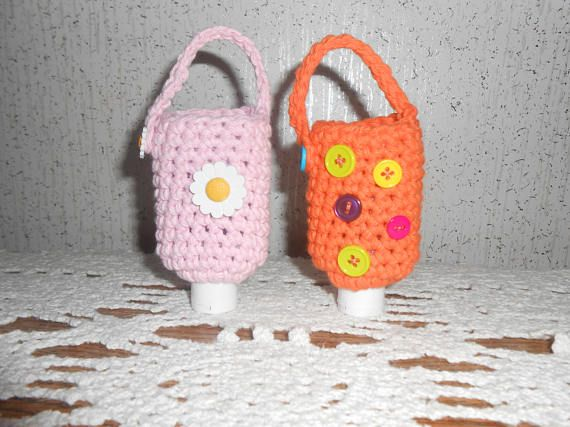 Crochet Hand Sanitizer Cozy Holder Case Instant Download Pattern