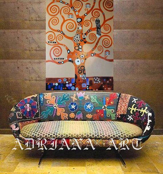 Zz1597 Wall Art Decoration Painting Gustav Klimt Big Tree: ABSTRACT Acrylic Painting Gustav