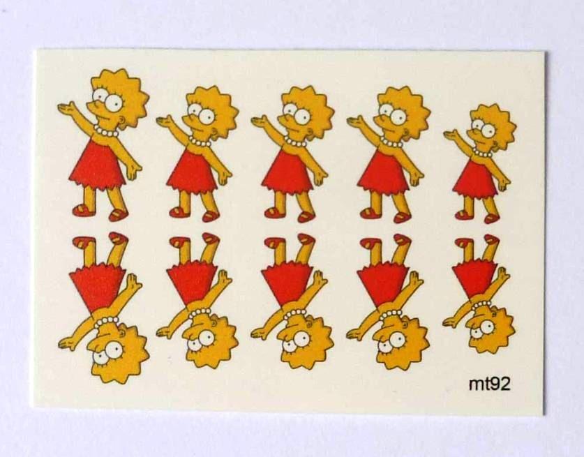 Lisa Simpson 2, Simpsons, Waterslide Decals, Water Transfers, Nail ...