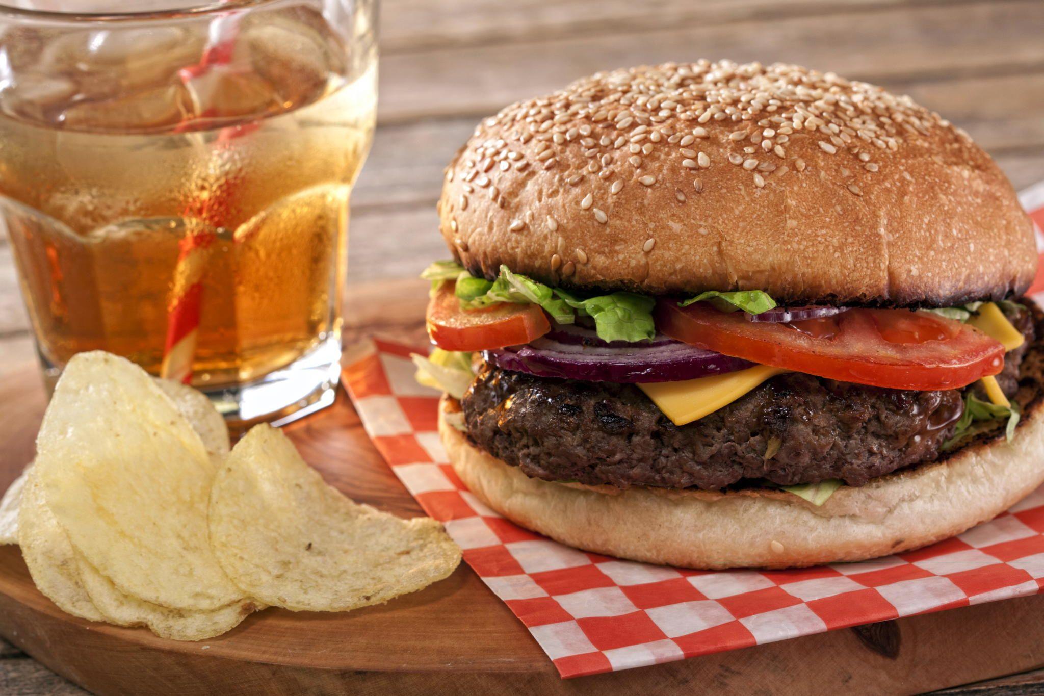 Handmade hamburger