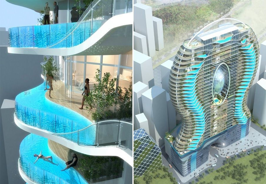 The World S Most Luxurious Hotel Pools With Images Balcony Pool