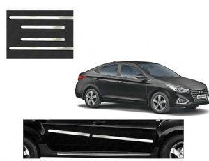 Hyundai Verna 2018 Car Door Side Chrome Beading Set Of 4 Price 350 Car Hyundai Car Body Cover