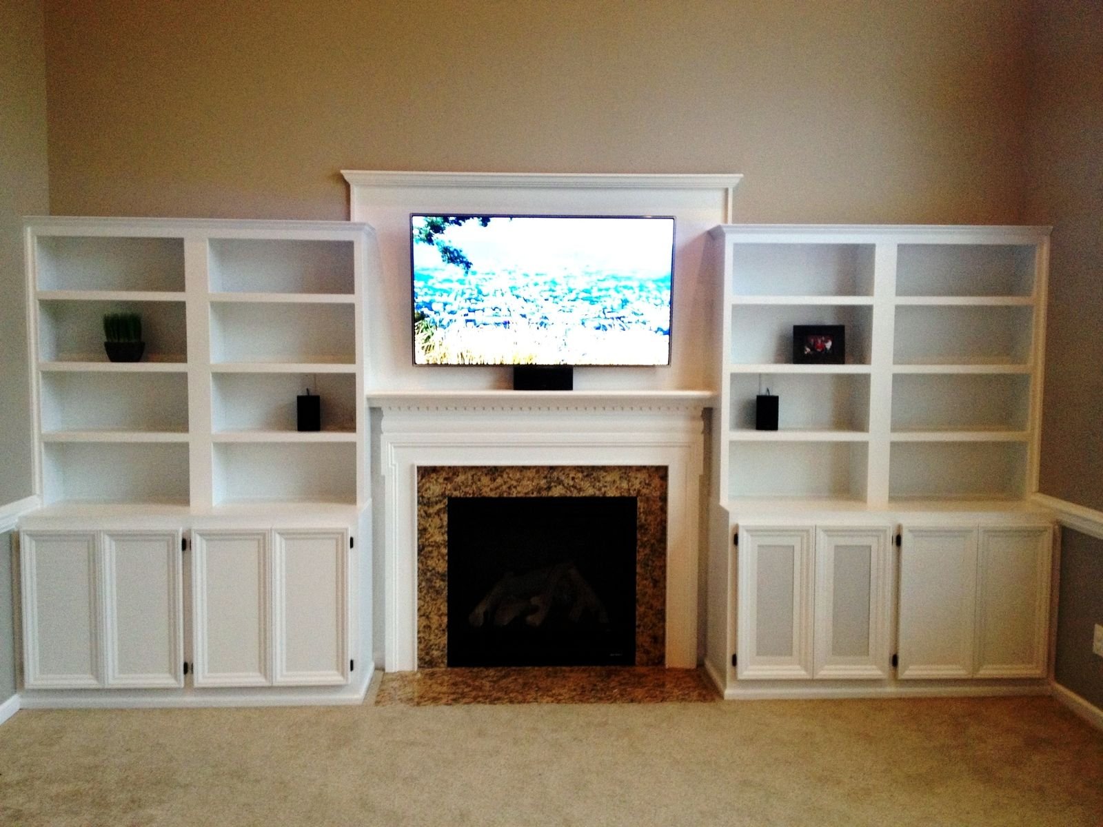 Hand Crafted Built In Entertainment Center By Pittman