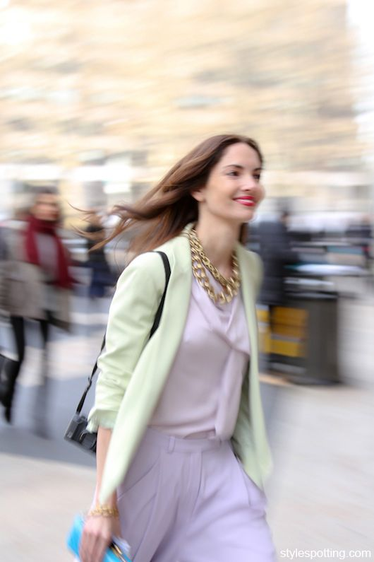 Eugenia Silva running late to DVF's show