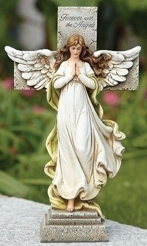 Angel Memorial Cross Statue   Beautiful Sympathy Gift That Can Be Placed In  A Memorial Garden Or A Special Area Of The Home. Cross Is Inscribed With  The ...