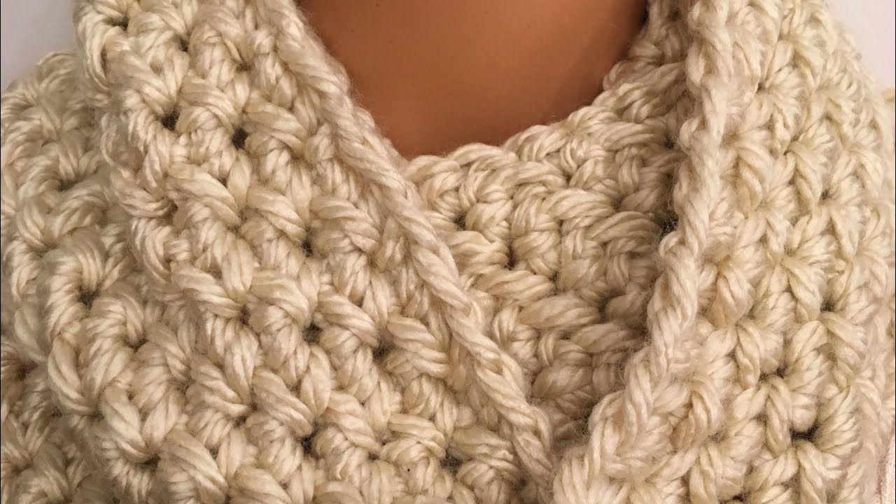 Easy Crochet Infinity Scarf Using Grit Stitch Youtube Crochet Infinity Scarf Crochet Scarf Youtube Etsy Knitting