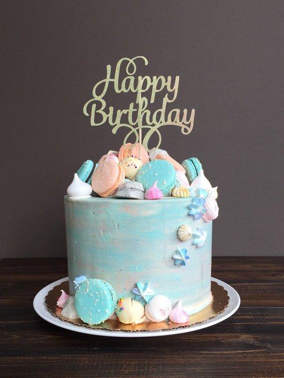 Cake Topper Happy Birthday Cake Topper Birthday Cake Topper