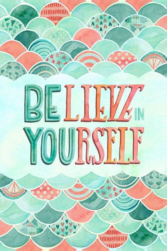 Do It Yourself Word Symbols And: BElieve In YOUrself Art Print