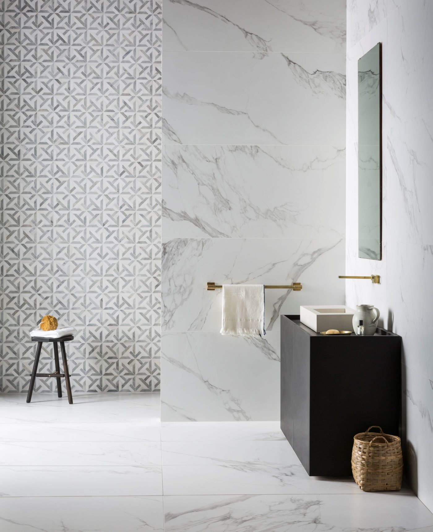 Mimica Bianco Ravenna Matt Porcelain Tiles - Mandarin Stone