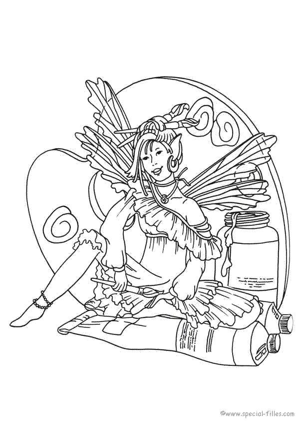 Fee Kleurplaat Fairy Pinterest Adult Coloring Fairy And Patterns