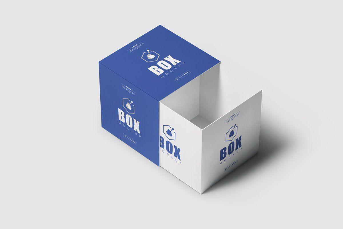 Download Square Box Mock Up 4 Mockup Square Mocking