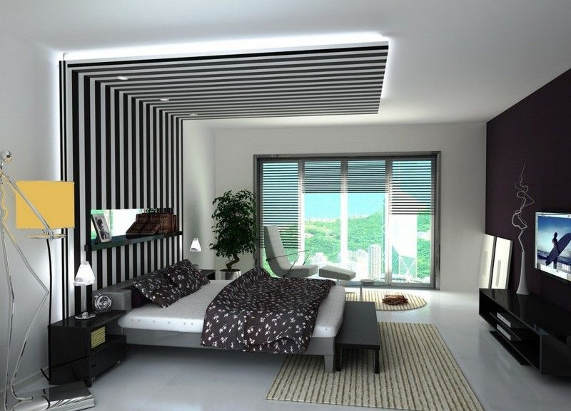 Decorating, Painting Gypsum Board False Ceiling Designs For Modern Bedroom Decorating Ideas With Different Wall Colors: The Adorable Designs for Gypsum Board Ceiling