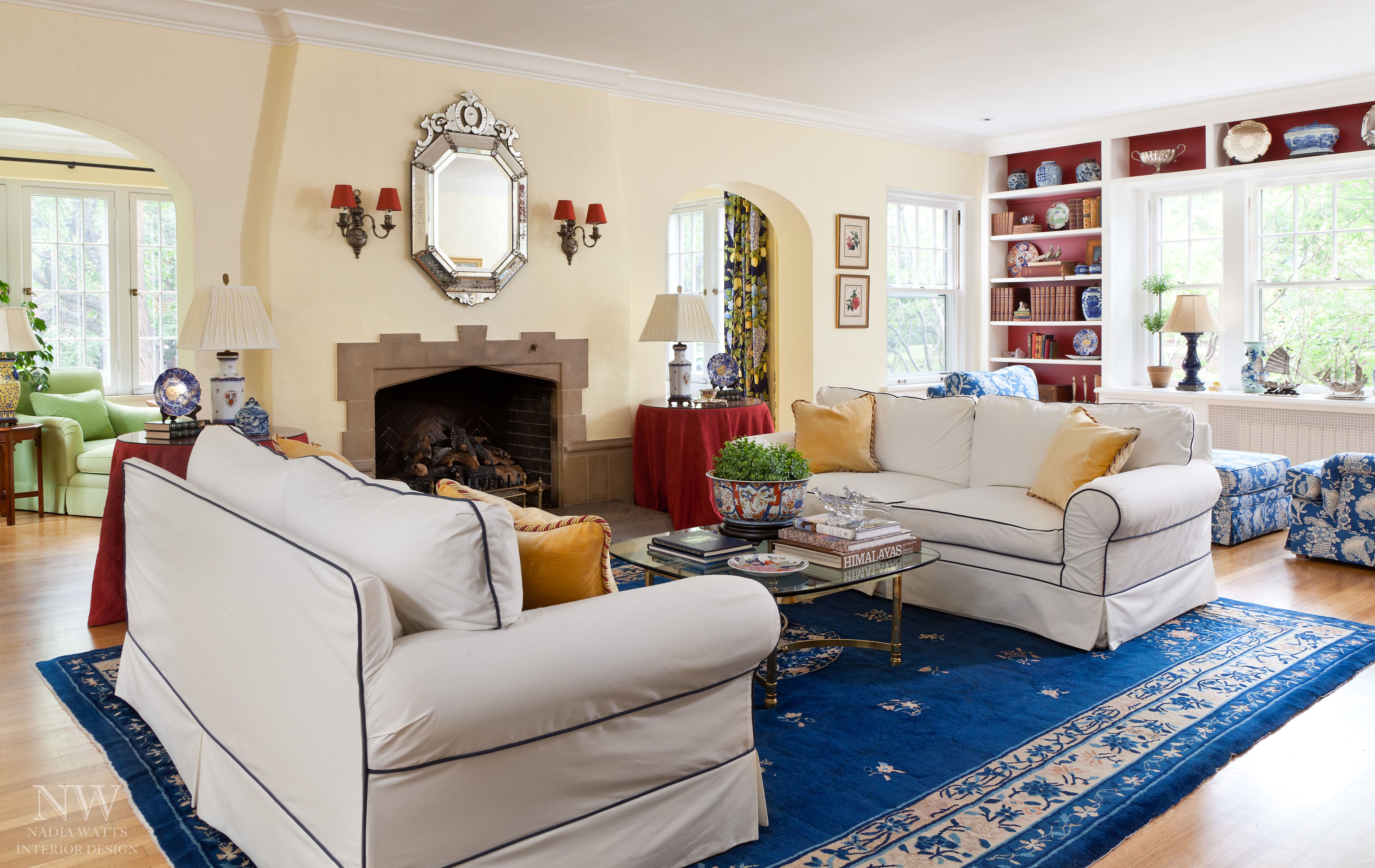 #color plays a big part in this cozy #livingroom . Room # ...