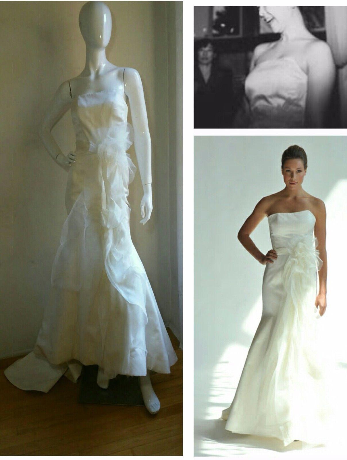 Nice awesome junko yoshioka avant garde asymmetrical ivory wedding