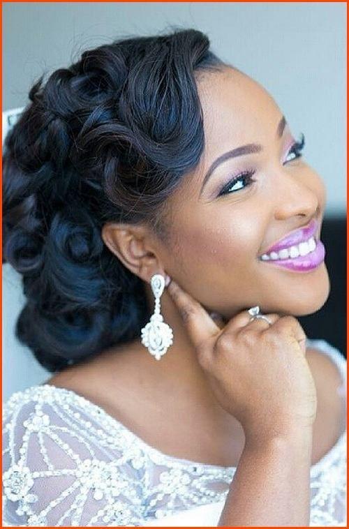 Simple Side Swept Updo Wedding Hairstyles Black Hair Pinterest