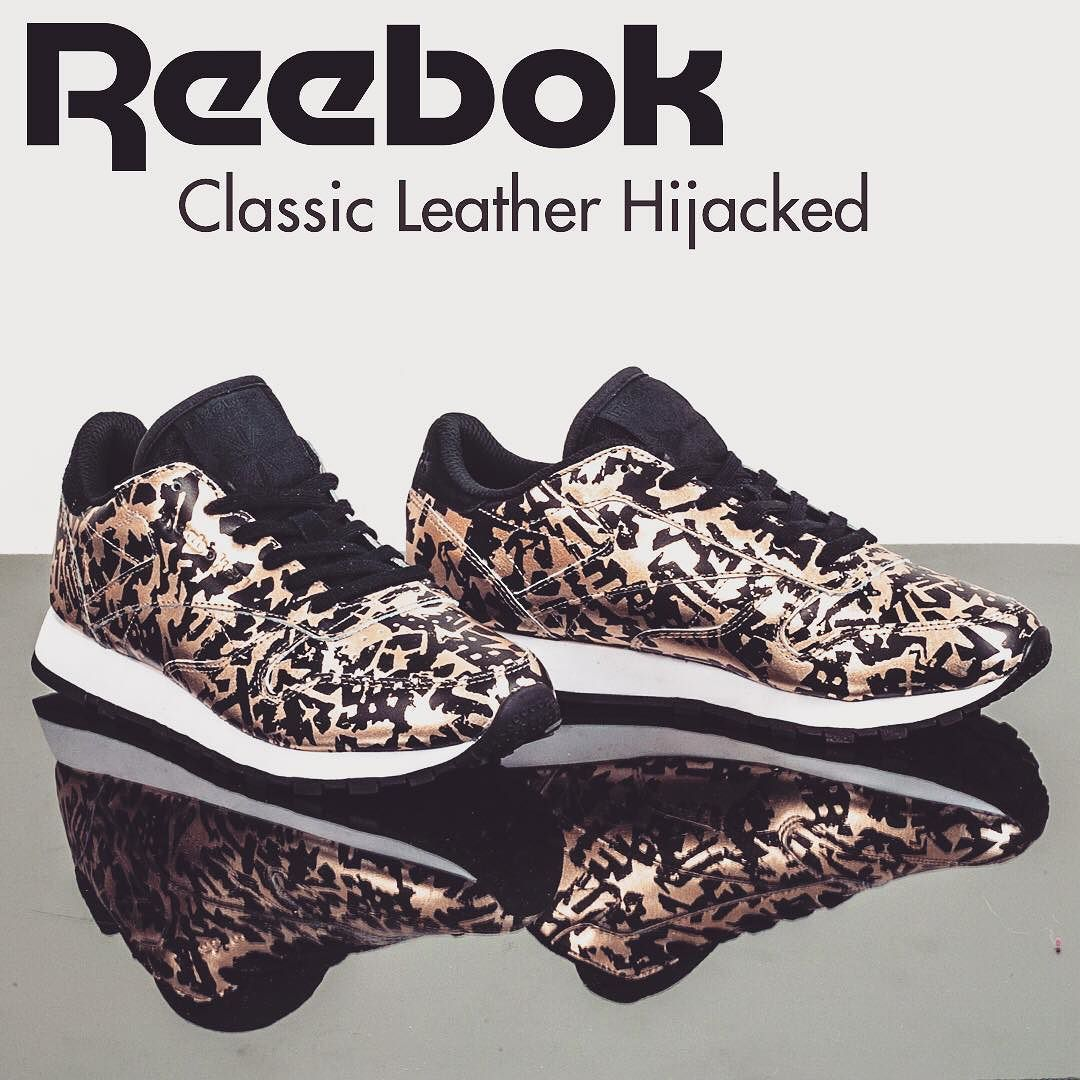 499f596842f7e0 Reebok Classic Leather Hijacked Low-Top Sneaker - Available Colors   Multicolor (Metallic Animal